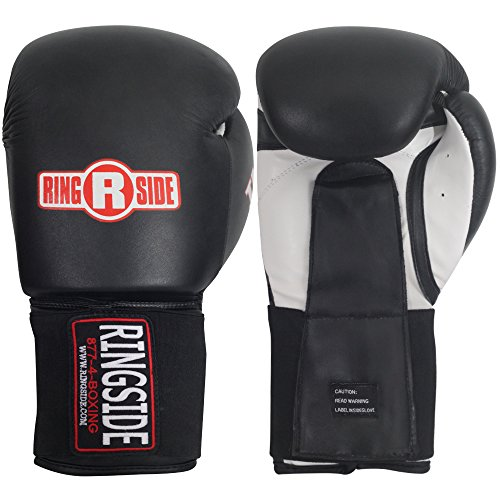 Ringside Imf Tech Sparring Elastic Boxing Gloves (Black, 16-Ounce)
