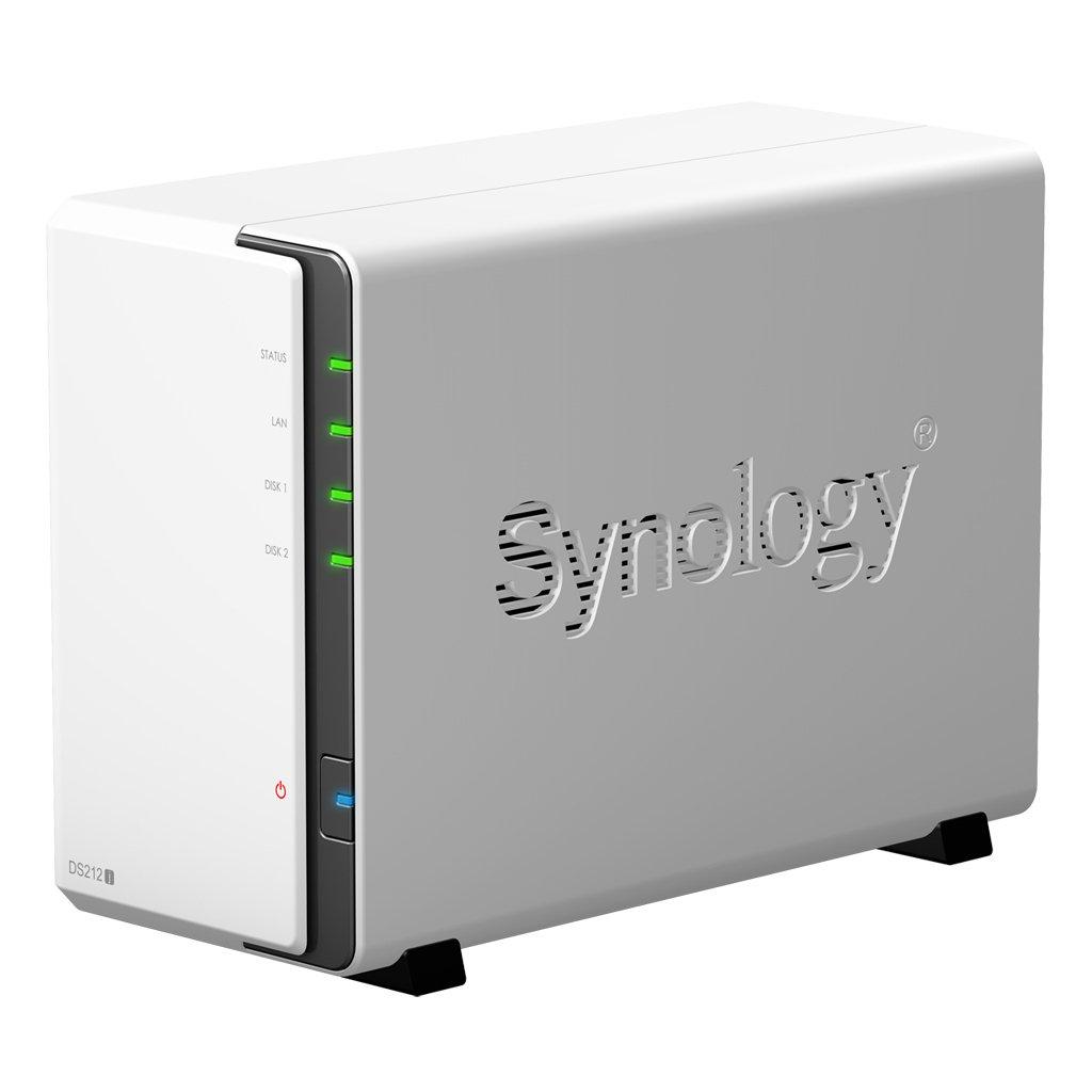 Synology DS212J NAS - Servidor (Serial ATA-300, hasta 6 TB, Raid Integrado, Adaptador de Red Integrado), Blanco: Amazon.es: Informática