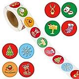 500Pcs Pegatinas Navideñas Redondas para Etiquetar Pegatinas Navideñas para Regalos para Navidad/Pegatinas/Pegatinas/Etiquetas/Pegatinas De Regalo Redondas/Set