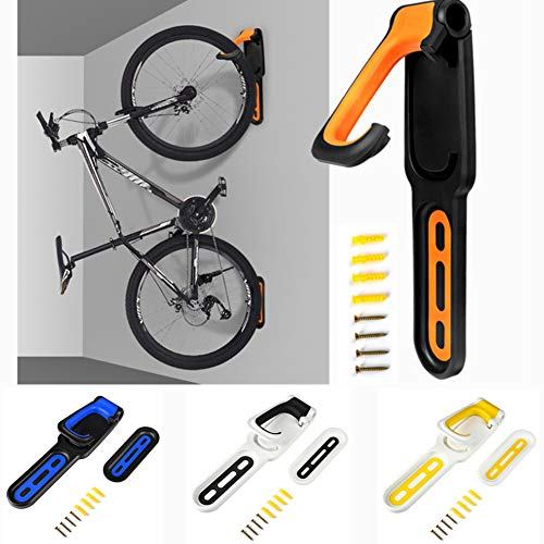 Soporte de pared para bicicleta plegable vertical, soporte para bicicleta compatible con...