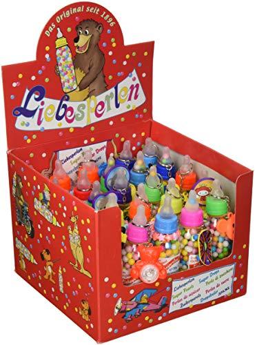 Babyfläschchen mit Spielzeug   Liebesperlen Nostalgieprodukt Das Original   25 Stück im Tray   1 x 1.75 kg