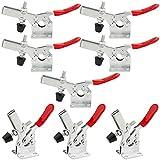 Abrazaderas de palanca horizontal ASelect, 8 unidades, 201B, de liberación rápida, resistente, herramienta de mano antideslizante, capacidad de sujeción de 198 libras