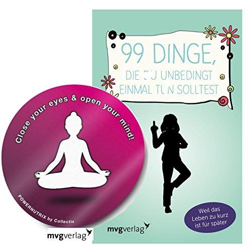 mvgverlag 99 Dinge, die Du unbedingt einmal Tun Solltest: Weil Das Leben zu Kurz ist für später Gebundene Ausgabe + 1 Yoga Sticker Gratis