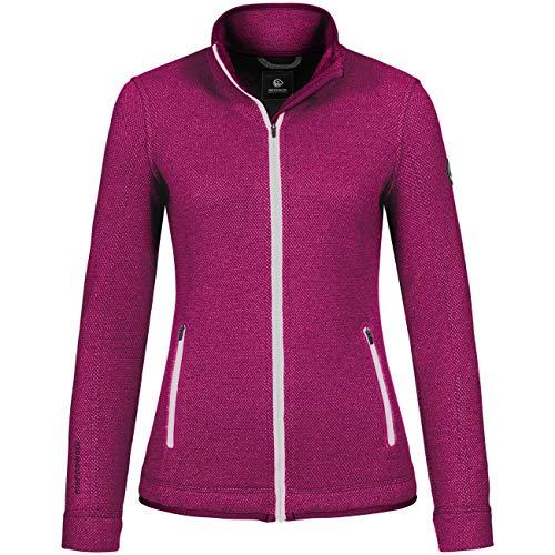 GIESSWEIN Walk Jacke Sina - Damen Jacke aus 100% Merino Wolle, Sport Weste mit Stehkragen, temperaturregulierende Woll-Filz Outdoor Bekleidung, atmungsaktiv & leicht