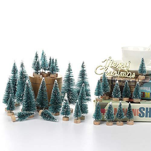 Artificiale Mini Sisal Alberi di Natale Snow Frost Basi in Legno Decorazione del Partito di casa Ornamento Accessori Artigianali Fai da Te per i villa