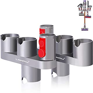 LANMU Docks Station Accessory Organizer Holders Compatible with Dyson V10 V8 V7 Cordless Stick Vacuum Cleaner,Wall Mount A...