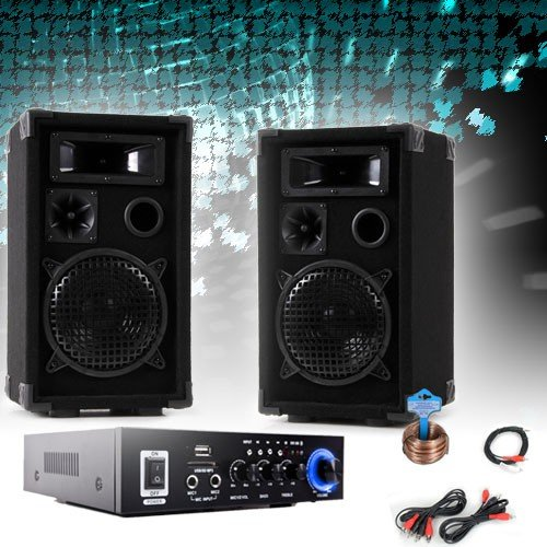 etc-shop PA Party Kompakt Musikanlage Boxen Verstärker Bluetooth USB SD MP3 DJ-Compact 3