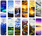 Livin Harmony Bulk Inspirational Bookmarks for Kids | Motivational Book Marks with Encouraging Quotes for Book Lovers | Book Markers for Men and Women | Cool Bookmarks for Teachers & Classroom