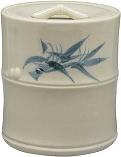 五陶(Goto) 水指 白 サイズ:直径13.2x高さ15.8cm 竹節 志野 紙箱入