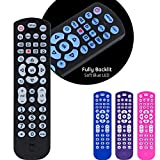 GE Backlit Universal Remote Control for Samsung, Vizio, LG, Sony, Sharp, Roku, Apple TV, RCA, Panasonic, Smart TV, Streaming Players, Blu-Ray, DVD, 4-Device, Black, 40081
