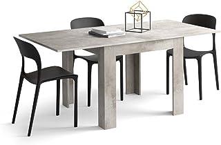 Mobili Fiver, Table Extensible Eldorado, Béton, 90 x 90 x 79 cm, Made in Italy
