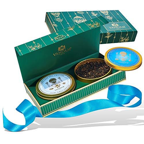 VAHDAM, Assorted tee geschenkset - 2 Tees Geschenkbox | OPRAHS LIEBLINGSTEE 2019 - 100% natürliche Inhaltsstoffe | Valentinstag Geschenk für ihn | valentinstag geschenke für männer