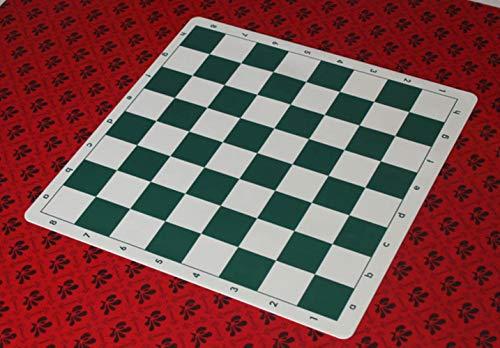 Mingi 34,5 cm 42 cm 51 cm Schachbrett Schachspiele PVC Gummi Schachbrett ohne Schachfiguren Chessman Travel Game, 42 cm
