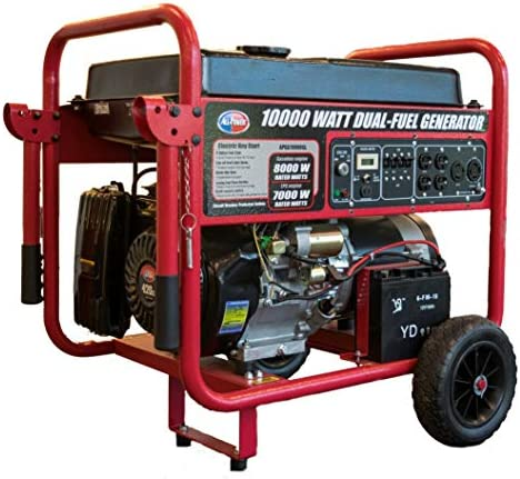 All Power America APGG10000GL 10000 Watt Dual Fuel Portable Generator with Electric Start 10000W product image