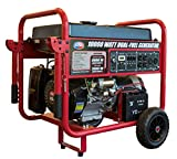 All Power America APGG10000GL 10000 Watt Dual Fuel Portable...