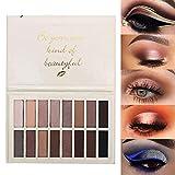 LILUN6 Paleta de Sombras de Ojos Avanzada de 16 Colores, Sombra de Ojos ahumada Brillante, Mineral Natural, Adecuado para Mujeres Que se Visten de Maquillaje