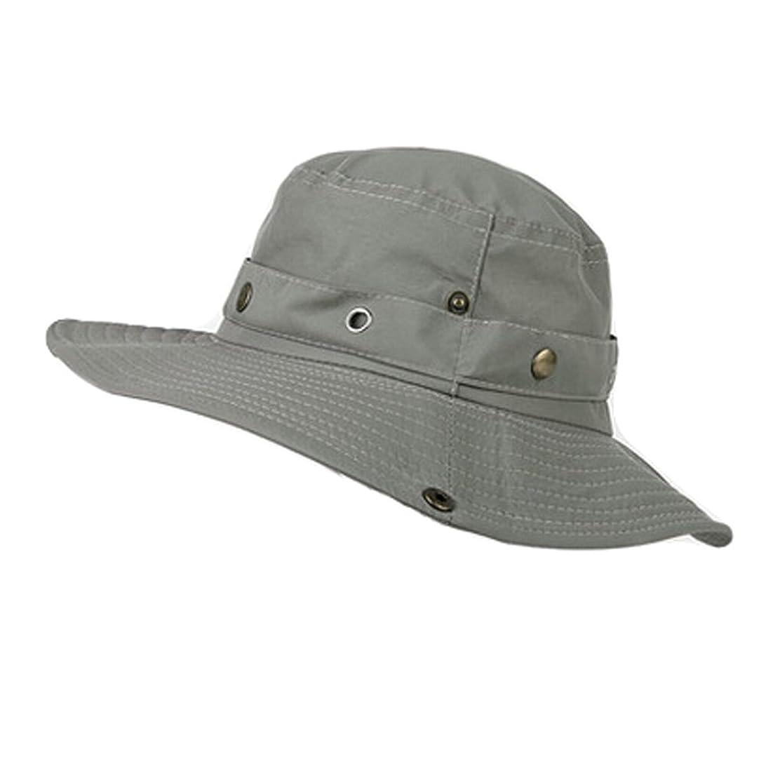 ムスタチオ炎上銅メンズFoldableサンキャップスポーツサン帽子帽子釣りカウボーイハット、P