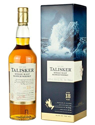 Talisker Single Malt Whisky 18Years Old con Regalo del paquete, 700 ml