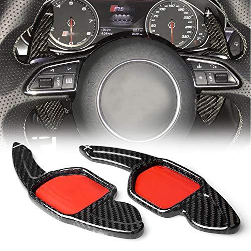 JXSMBP Carbon Lenkrad Schaltwippen Auto Styling Zubehör.Für Audi a3 rs3 a5 rs6 a4l a6l r8 a7 q3 a8 q5 s5 q7 s6 tt s7 tts s8