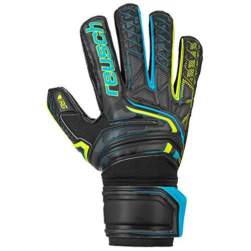 Reusch Attrakt RG Finger Support - Guantes de Portero para Hombre, Color Negro, Amarillo y Negro