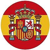 Artimagen Alfombrilla, Mouse Pad Textil 100% Poliéster Bandera España ø 20 cm.