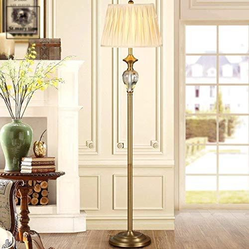BINGFANG-W Dormitorio Led Lámpara de piso, sala de estar moderna simple café luz del piso y sofá dormitorio creativo estadounidense Nordic Lámpara de piso, Eye-Cuidado Vertical luz del piso Lámparas d