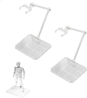 プラモデル スタンド フィギュア 台座 2個セット ポリカーボネート製 180度可動 ディスプレイスタンド 模型 プラモデル フィギ 人形 立て 飾る (透明な)
