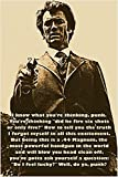 Dirty Harry Aka Clint Eastwood Foto Zitat Poster Do You