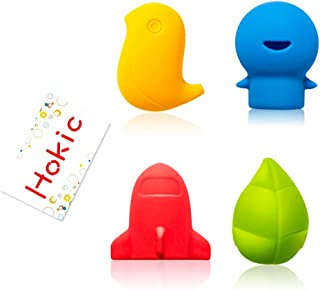 Hokic 8 Pack Silicone Toothbrush Holder Covers, Portable Travel Toothbrush Cover Protective Case for Travel Home Outdoor Camping School