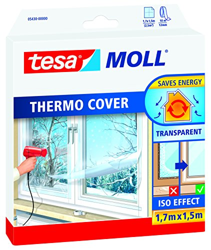 tesamoll® Thermo Cover Fensterisolierfolie (1,7 m x 1,5 m / 3er Pack)