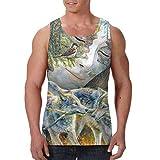 HARLEY BURTON Men's Tank Tops Natural.Wolf.Goddess Graphic Sleeveless Shirts for Beach Summer
