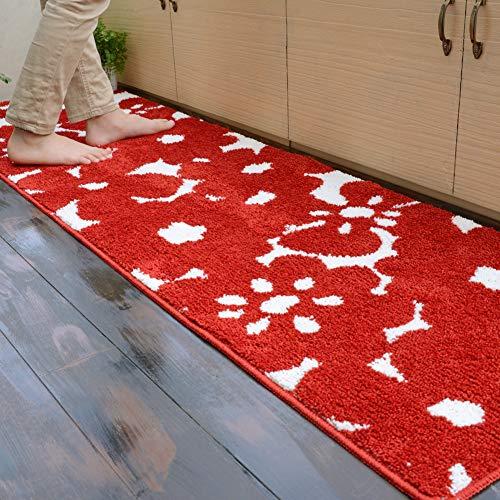 キッチンマット スーミー 50×240 cm 洗える 滑り止め 北欧 イシバシ オリジナル マット レッド