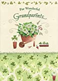 Designer Greetings Wheelbarrow with White Flowers and Shamrocks St. Patrick's Day Card for Grandparents