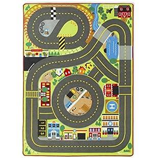 3 horses Melissa & Doug Play Mat Crawling Mat with Road Signs Design Roadway Highway Road Traffic, 200x153cm Mug, Multi-Colour:Gamesbonusstar