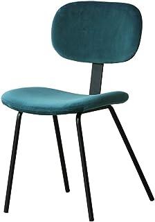 Luqifei Sillas de Comedor Century Modern Style Negro Base Mediados de Metal del Asiento de Terciopelo Centiar sillas de Comedor Cocina Comedor Muebles (Color : Green, Size : Free Size)