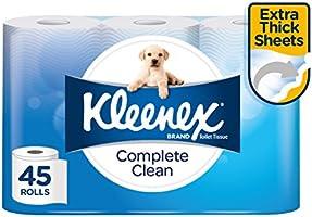 Kleenex Complete Clean Toilet Paper 45 Rolls
