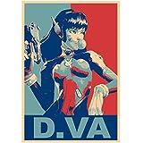 インテリアポスター・プリント-「Propaganda」Overwatch D。Vaアート キャンバス絵画 インテリアパネル インテリア絵画 新築飾り 贈り物 サイズ (40x50cm)