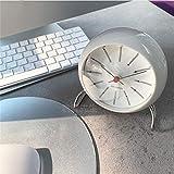 XIAOSAKU Reloj de Mesa Moderno 4.7 Pulgadas Nordic Classic Retro Desk Clock Silent Small Desk Relk Desk Office Dormitorio Relojes de Mesa para la Decoración de la Sala de E (Color : C)