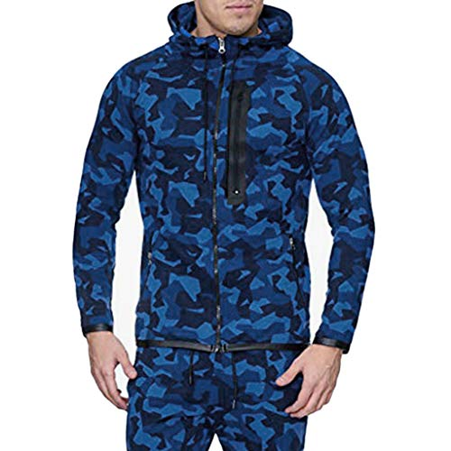 Hoodie Herren Sweatjacke Sweatshirt Herbst Winter Vintage Zipper Hooded Print Langarm Outdoor-Jacke schwarz weiß dunkelblau grün rot Kapuzenjacke M L XL XXL XXXL CICIYONER