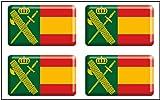 Artimagen Pegatina rectángulos Bandera con Logo Guardia Civil 4 uds. Resina 30x18 mm/ud.