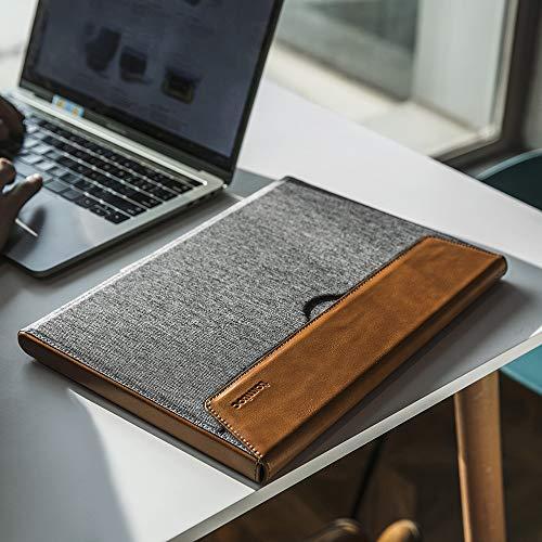 tomtoc Premium Laptop Hülle Tasche für 13-Zoll MacBoook Air 2018-2021 M1/A2337 A1932 A2179, MacBook Pro USB-C 2016-2021 M1/A2338 A2251 A2289 A2159 A1989, Wasserabweisend PU Leder Schutzhülle
