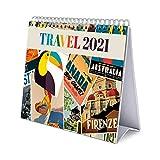 ERIK - Calendario de Escritorio 2021 Travel, 17x20 cm