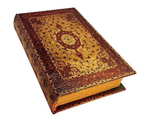 レトロなアンティーク調ブックボックス(木製収納箱)小物入れ 洋書型 アンティーク風 エスニック