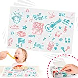 Disposable Placemats, Stick-on Placemat Table mat Table Topper and Eco-Friendly...