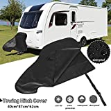 Caravan Hitch Cover,Universal Waterproof Breathable Tow Hitch Cover Tongue Jack Cover PVC Trailer