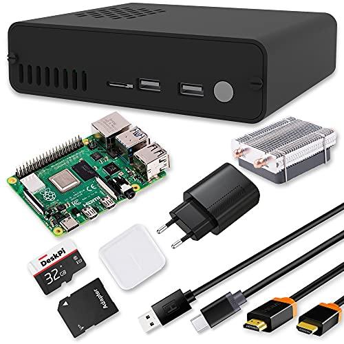 GeeekPi Raspberry Pi 4 4 GB DeskPi Pro Set-Top Box Kit –...