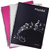 楽譜ファイル バンドファイル 20ポケット 40ページ A4サイズ リング式 楽譜入れファイル 書き込みでき 楽譜ホルダー 三色あり (ホワイト)