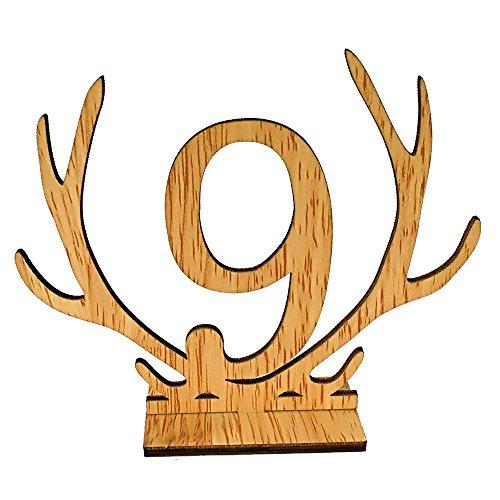 Gesh corna forma di 1-20 numeri segni tavolo matrimonio numero tavolo in legno numeri rustici per matrimoni e feste