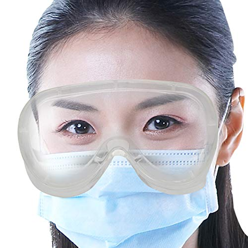 Oriley ORSGR2 Safety Goggles Eye Protection Glasses Anti-Droplets Disposable Protective Eyeglass with Clear Polycarbonate Lens for Medical & Lab (Assorted Colour)