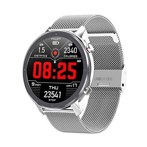 Gymqian Reloj Inteligente, Tacto de Pantalla Completa Pulsera Inteligente, Pisado Deportivo Contador Ip68 Pulsera de Bluetooth Impermeable, Masculina Y Femenina. Exquisito/Silver